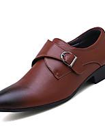 Недорогие -Муж. Комфортная обувь Полиуретан Весна Деловые Мокасины и Свитер Доказательство износа Черный / Коричневый