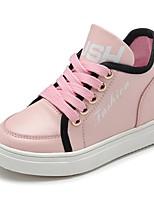 Недорогие -Девочки Обувь Полиуретан Наступила зима Удобная обувь Кеды для Для подростков Черный / Красный / Розовый