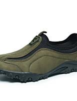 Недорогие -Муж. Комфортная обувь Полиуретан Зима На каждый день Мокасины и Свитер Нескользкий Черный / Коричневый / Зеленый