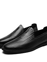 Недорогие -Муж. Комфортная обувь Кожа Весна & осень На каждый день Мокасины и Свитер Черный / Желтый / Коричневый