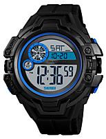 Недорогие -SKMEI Муж. Спортивные часы Армейские часы Цифровой Черный / Зеленый 50 m Будильник Секундомер С двумя часовыми поясами Цифровой На каждый день Мода - Красный Зеленый Синий Один год Срок службы батареи