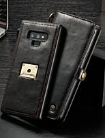 Недорогие -CaseMe Кейс для Назначение SSamsung Galaxy Note 9 Кошелек / Бумажник для карт / Флип Чехол Однотонный Твердый Кожа PU для Note 9