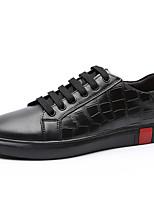 Недорогие -Муж. Кожаные ботинки Наппа Leather Весна & осень Спортивные / На каждый день Кеды Сохраняет тепло Белый / Черный