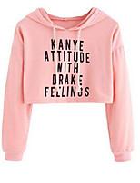 Недорогие -женская толстовка с длинным рукавом - сплошной цвет с капюшоном розовый с