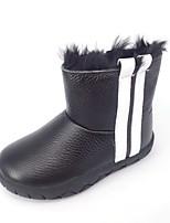 Недорогие -Девочки Обувь Кожа Весна & осень Удобная обувь / Зимние сапоги Ботинки для Для подростков Белый / Черный