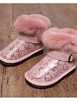 Недорогие -Девочки Обувь Синтетика Зима Удобная обувь / Зимние сапоги Ботинки для Дети / Для подростков Черный / Серый / Розовый