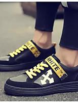 Недорогие -Муж. Комфортная обувь Замша Весна & осень Кеды Черный / Желтый / Белый / Желтый