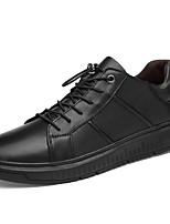 Недорогие -Муж. Кожаные ботинки Наппа Leather Весна & осень Спортивные / Классика Кеды Нескользкий Черный