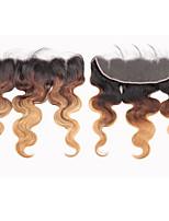 Недорогие -Laflare Бразильские волосы 4X13 Закрытие Волнистый Бесплатный Часть Швейцарское кружево человеческие волосы Remy Жен. Мягкость / Лучшее качество / Новое поступление Рождество / Свадьба / Halloween
