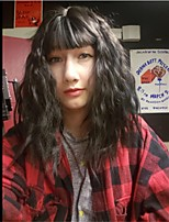 Недорогие -человеческие волосы Remy Полностью ленточные Лента спереди Парик Бразильские волосы Loose Curl Парик Ассиметричная стрижка 130% 150% 180% Плотность волос