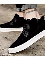 Недорогие -Муж. Комфортная обувь Свиная кожа Весна & осень Кеды Черный / Серый / Коричневый