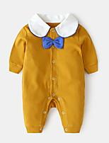 Недорогие -малыш Девочки Классический Однотонный Длинный рукав Полиэстер 1 предмет Красный / Дети (1-4 лет)