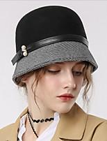 Недорогие -Чудесная миссис Мейзел Колпак шляпа шляпа Дамы Ретро Жен. Черный Контрастных цветов Конструкция САР Хлопок / полиэфир костюмы