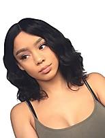 Недорогие -человеческие волосы Remy 360 Лобовой Парик Бразильские волосы Естественные волны Парик Стрижка боб 130% Плотность волос Женский Мода Удобный 100% девственница Нейтральный Жен. Короткие