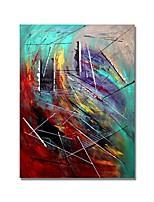 abordables -styledecor® moderne peint à la main abstrait la peinture à l'huile de gribouillis sur toile avec toile tendue