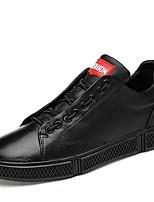 Недорогие -Муж. Комфортная обувь Кожа Наступила зима Классика / На каждый день Кеды Амортизирующий Белый / Черный