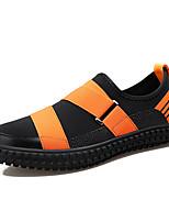 Недорогие -Муж. Комфортная обувь Полиуретан / Эластичная ткань Зима На каждый день Мокасины и Свитер Нескользкий Контрастных цветов Черный / Оранжевый и черный