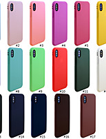 baratos -Capinha Para Apple iPhone XR / iPhone XS Max Áspero Capa traseira Sólido Macia TPU para iPhone XS / iPhone XR / iPhone XS Max