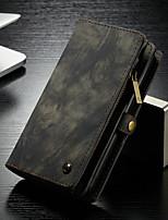 abordables -CaseMe Coque Pour Samsung Galaxy S9 Plus Portefeuille / Porte Carte / Avec Support Coque Intégrale Couleur Pleine Dur faux cuir pour S9 Plus