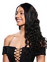 Недорогие -человеческие волосы Remy 6x13 Тип замка Парик Бразильские волосы Крупные кудри Парик Стрижка боб 130% Плотность волос Женский Натуральный Удобный 100% девственница вьющийся Нейтральный Жен.