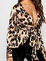 Недорогие -Жен. Блуза Классический Леопард