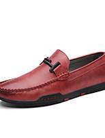 Недорогие -Муж. Комфортная обувь Микроволокно Весна & осень На каждый день Мокасины и Свитер Черный / Желтый / Красный