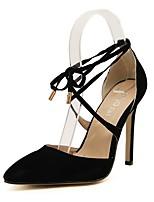 Недорогие -Жен. Полиуретан Весна & осень Обувь на каблуках На шпильке Заостренный носок Черный / Для вечеринки / ужина
