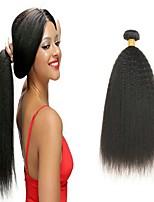 Недорогие -6 Связок Бразильские волосы Перуанские волосы Вытянутые 8A Натуральные волосы Необработанные натуральные волосы Wig Accessories Подарки Косплей Костюмы 8-28 дюймовый Естественный цвет