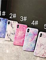 baratos -Capinha Para Apple iPhone XR / iPhone XS Max IMD Capa traseira Mármore Macia TPU para iPhone XS / iPhone XR / iPhone XS Max