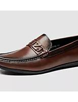 Недорогие -Муж. Комфортная обувь Наппа Leather Весна & осень Мокасины и Свитер Коричневый