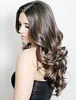 Недорогие -Натуральные волосы Лента спереди Парик Индийские волосы Естественные кудри Парик 130% Плотность волос Wig Accessories