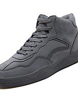Недорогие -Муж. Комфортная обувь Полиуретан Осень На каждый день Кеды Дышащий Белый / Черный / Серый