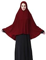 abordables -Femme Basique Hijab - Croisé, Couleur Pleine