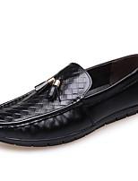 Недорогие -Муж. Комфортная обувь Кожа Весна & осень Мокасины и Свитер Черный / Желтый