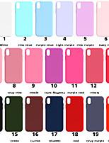 abordables -Coque Pour Apple iPhone XR / iPhone XS Max Dépoli Coque Couleur Pleine Flexible TPU pour iPhone XS / iPhone XR / iPhone XS Max
