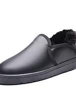 Недорогие -Муж. Комфортная обувь Кожа Зима На каждый день Мокасины и Свитер Сохраняет тепло Черный