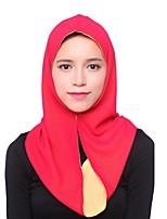 Недорогие -Жен. Винтаж / Классический Хиджаб - Перекрещивание Однотонный