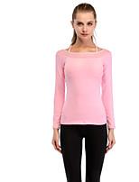 Недорогие -женская спортивная узкая футболка - однотонный ремешок