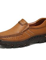Недорогие -Муж. Официальная обувь Наппа Leather Весна & осень Деловые / На каждый день Мокасины и Свитер Массаж Хаки
