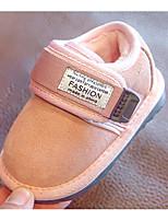 Недорогие -Мальчики / Девочки Обувь Замша Зима Удобная обувь / Обувь для малышей На плокой подошве для Дети (1-4 лет) Черный / Серый / Розовый