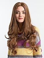 Недорогие -Парики из искусственных волос Жен. Естественные кудри / Блестящий завиток Темно-серый Средняя часть Искусственные волосы 26 дюймовый Модный дизайн / Новое поступление / Волосы с окрашиванием омбре