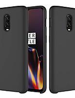 Недорогие -Кейс для Назначение OnePlus OnePlus 6 / One Plus 6T Матовое Кейс на заднюю панель Однотонный Мягкий силикагель для OnePlus 6 / One Plus 6T
