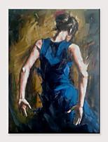 abordables -Peinture à l'huile Hang-peint Peint à la main - Abstrait Personnage Classique Moderne Sans cadre intérieur / Toile roulée