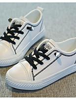 Недорогие -Мальчики / Девочки Обувь Синтетика Весна & осень Удобная обувь Кеды для Дети / Для подростков Белый / Черный