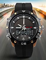 Недорогие -SKMEI Муж. электронные часы Цифровой силиконовый Черный 50 m Защита от влаги Календарь Секундомер Аналого-цифровые На каждый день Мода - Золотой Черный Серебряный / Хронометр / Фосфоресцирующий