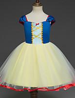 abordables -Blanc de neige Princesse Costume de Cosplay Fille Enfant Robes Noël Halloween Carnaval Fête / Célébration Tulle Coton Tenue Jaune Princesse