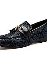 Недорогие -Муж. Официальная обувь Синтетика Весна & осень На каждый день / Английский Мокасины и Свитер Нескользкий Черный / Серый / Винный / Стразы / Для вечеринки / ужина