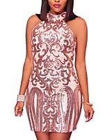 Недорогие -Жен. Элегантный стиль Оболочка Платье С принтом Выше колена