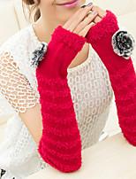 Недорогие -женские перчатки без рукавов - цветной блок