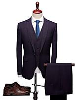 abordables -Avec motifs Coupe Sur-Mesure Laine / Polyster Costume - Cranté Droit 1 bouton / Droit 2 boutons